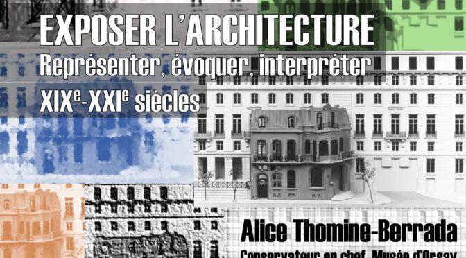 Conférence : Exposer l'architecture (CLSH, 23 novembre, 18h00)