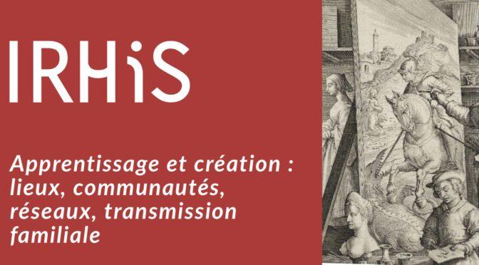 Journée d'étude : Apprentissage et création (Lille, 11 décembre 2017)
