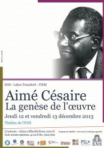 Décembre 2013 affiche Césaire