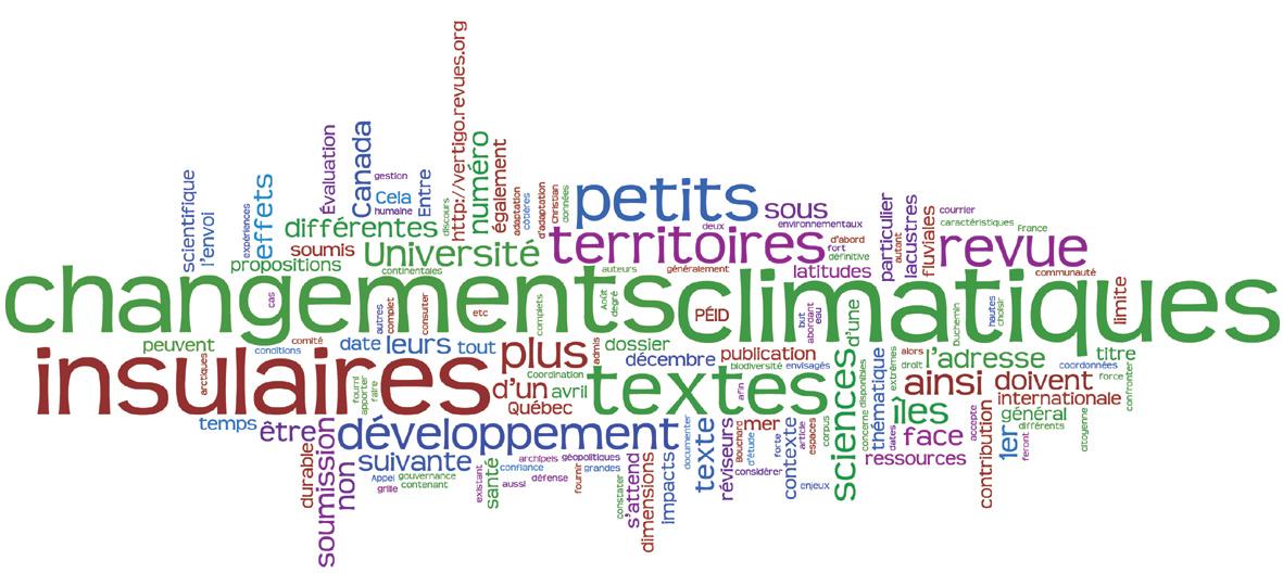 Appel à Contribution : Les petits territoires insulaires face aux changements climatiques : vulnérabilité, adaptation et développement