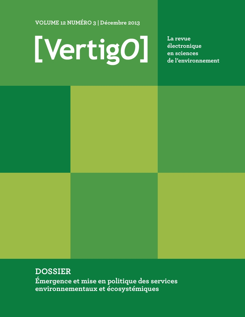 Vol12no3 de [VertigO] : 7 articles variés dans la section courante