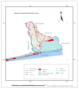 Figure II - Différents types d'écosystèmes et villages cibles