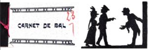Couverture et page du carnet de bal