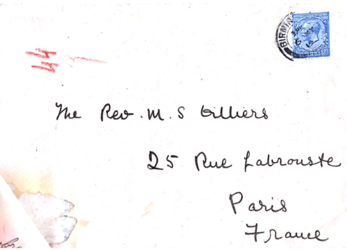 Enveloppe tamponnée de Birmingham, 6 mai 1914