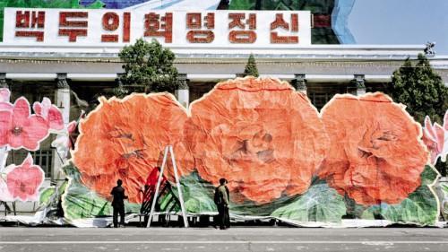 Festivités en l'honneur du centième anniversaire de la naissance de Kim Il-sung, Pyongyang. Crédits photo: Adrien Golinelli / Phovea