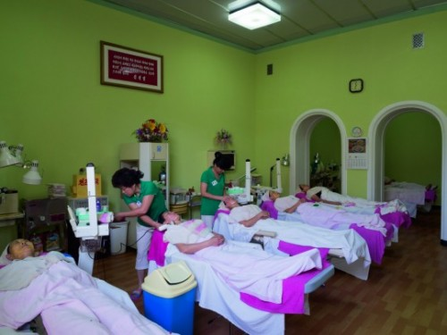 Changgwang Health Complex: The beauty treatment room at the Changgwang Health Complex © Nick Danziger.