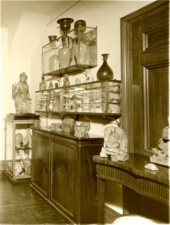 Korean and Chinese objects displayed in Eumorfopoulos' home, originally published in George Eumorfopoulos, G.E. 7, Chelsea Embankment, December 1934 (1934).