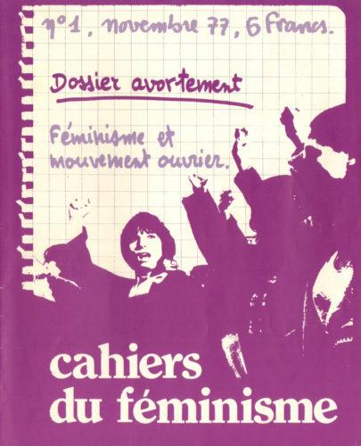 Couverture du numéro 1 des Cahiers du féminisme