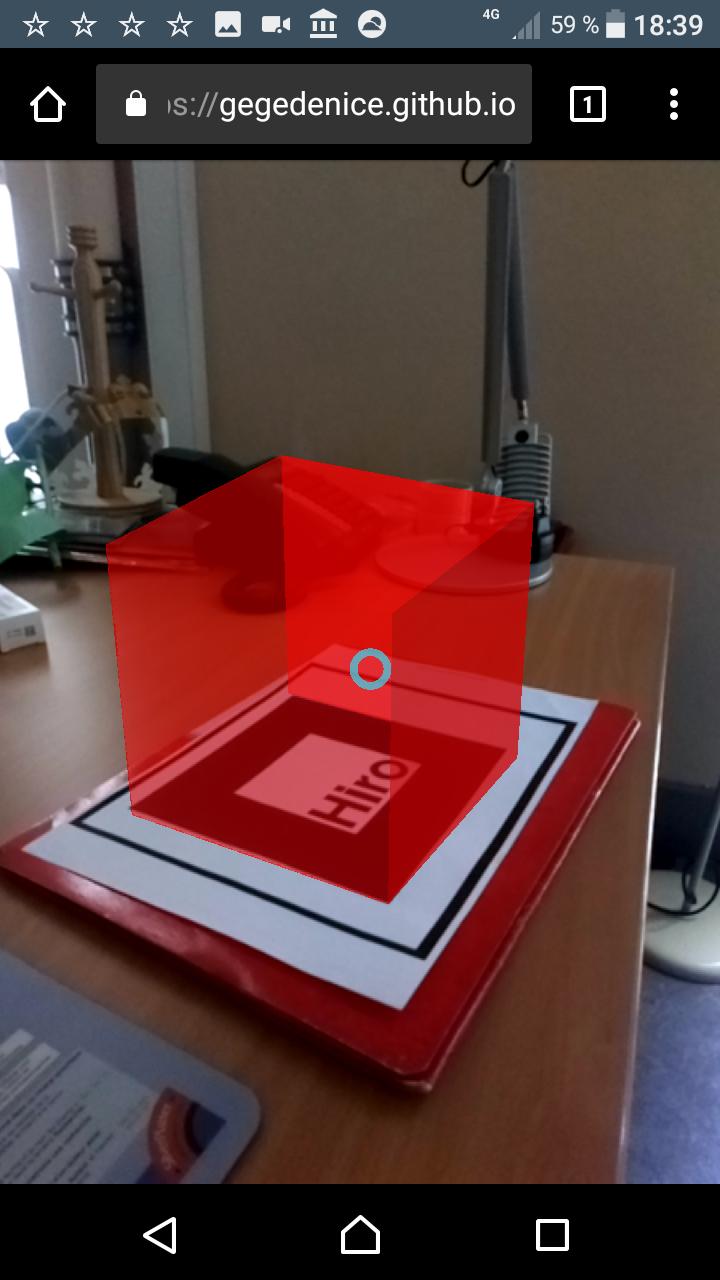 Capture d'écran : démonstration de réalité augmentée