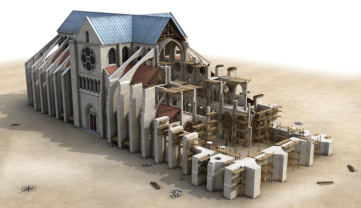 Le concept d uchronie est il applicable au patrimoine for Photos du plan de construction