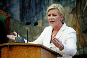 Vorsitzende der Fortschrittspartei Siv Jensen (2006) (CC)