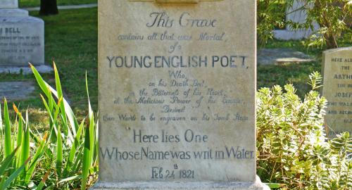 keats tombstone