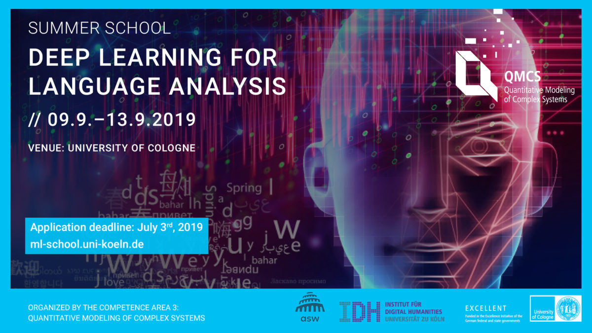 Summer School: Deep Learning for Language Analysis #DL4LA