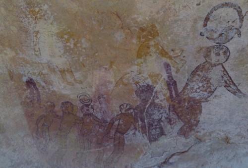 Peintures rupestres présentent au sein du site de Jabbaren. © Photo de l'auteur.