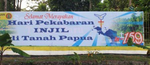 """Congratulations on the anniversary of the revelation of the gospel in Tanah Papua"""