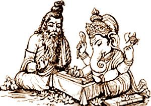 Vyasa et Ganesh