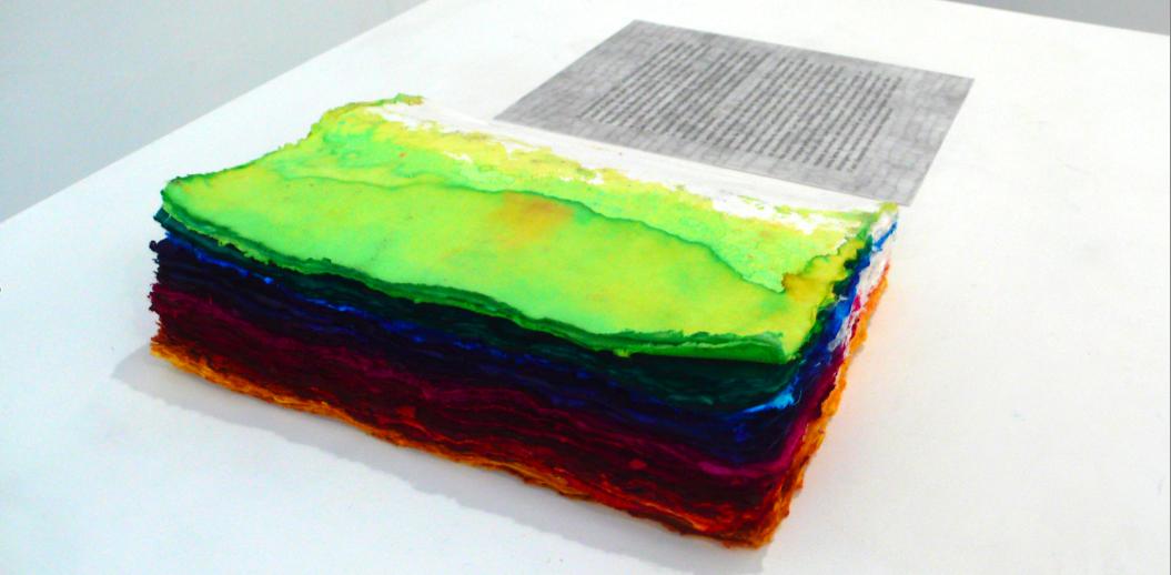 Thu Van Tran, L'imaginaire #6 – L'utopie comme désir, texte de l'artiste, encres, pages blanches, 2009