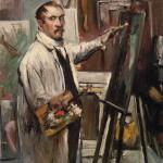 Lovis Corinth - Selbstporträt im Atelier - Bayer. Staatsgemäldesammlung - 1914