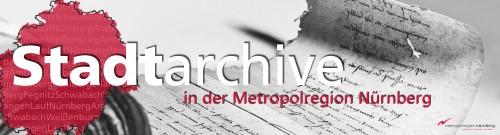 """Titelbild Blog """"Stadtarchive in der Metropolregion Nürnberg"""""""
