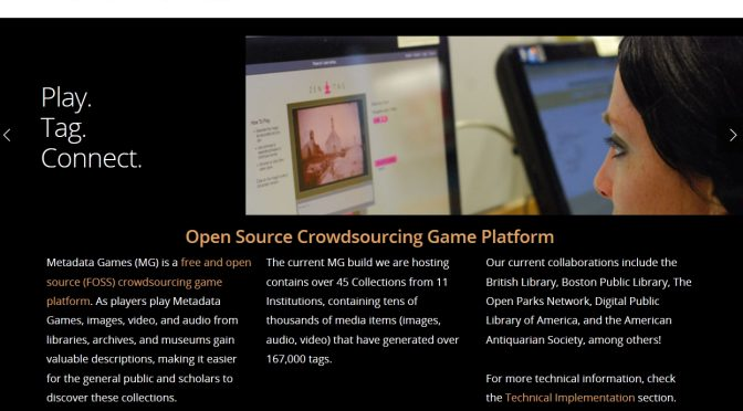 Metadata Games (Crowdsourcing Gaming-Plattform)