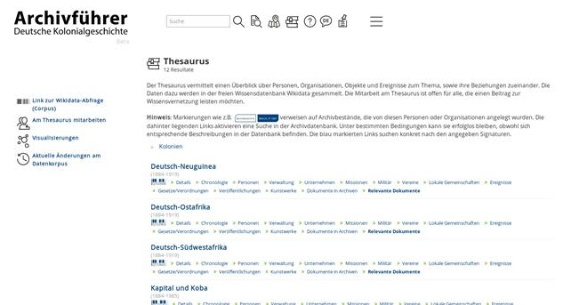 Uwe Jung/Michael Gasser: Der Archivführer zur deutschen Kolonialgeschichte: Archive und Wikidata. Ein Hands-On Workshop (Vorschau Offene Archive 2019, 9 = Sessionvorschlag ArchivCamp)