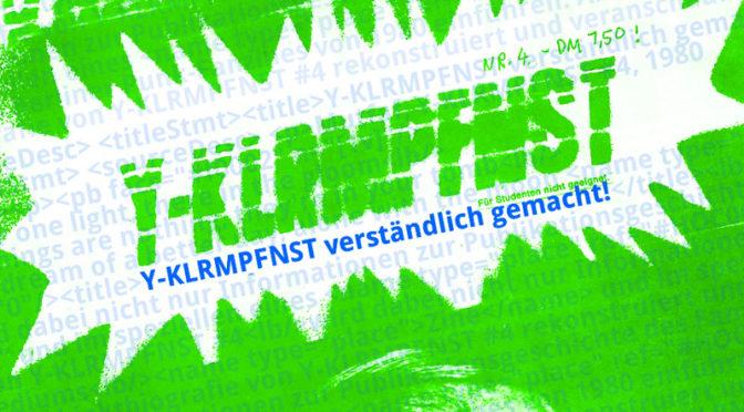 Zwischen Standard und Punk – die digitale Edition eines Punk-Zines (Vorschau Offene Archive, 7 = Sessionvorschlag für das ArchivCamp)