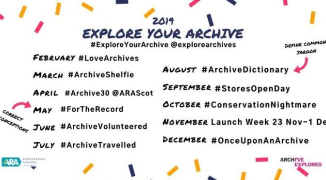 Kampagne #ExploreYourArchive 2019