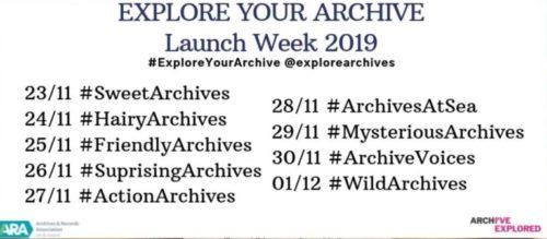 Übersicht der Launch Week der Kampagne Explore Your Archives