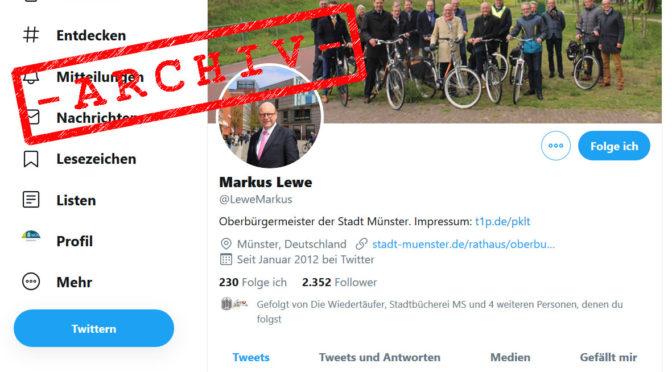 Twitter Accounts von kommunalen Wahlbeamten. Bewertung und Überlieferungsstrategien