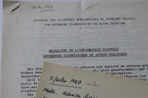 Réunion Milan 1960. Fonds J. Durand ARC 3024 IHTP