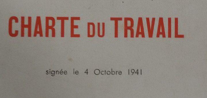 Charte du travail - IHTP, ARC 074-45 Etat français 1940-44