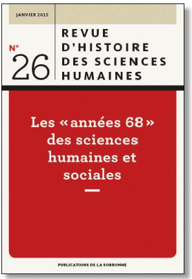 Revue d'histoire des sciences humaines, 26-2015