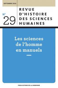 Revue d'histoire des sciences humaines, 29-2016