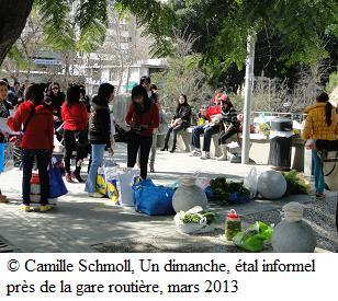 Camille Schmoll 2013 Etal informel près de la gare routière de Nicosie
