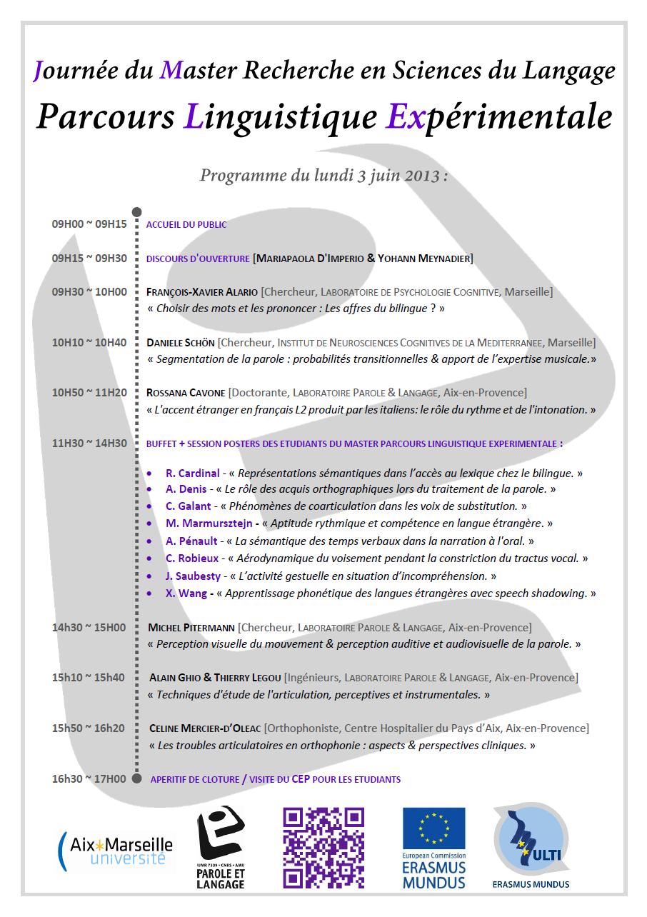 Programme JMLEx 2013