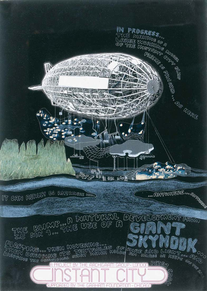 Archigram, Instant city Black Air Ship, 1970