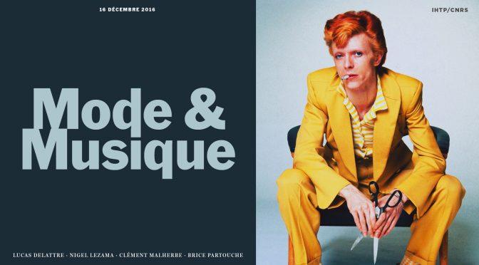 Prochain #SemMode, «Mode & Musique», 16 décembre, 14h30
