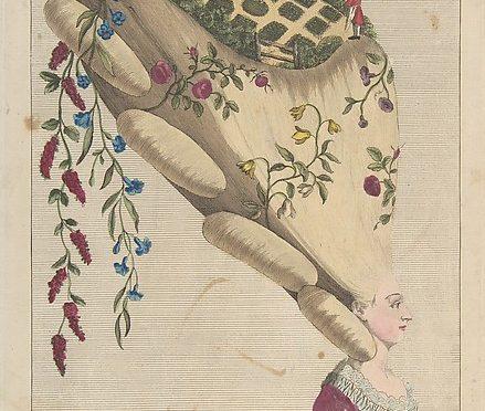 The Flower Garden, Eau-forte et gravure à l'aquarelle, de Matthew Darly, Londres, 1er mai 1777 ©The Metropolitan Museum of Art.