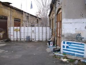 Une partie du mur qui sépare la ville de Nicosie.
