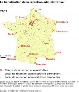 Détention administrative en France en 2003.