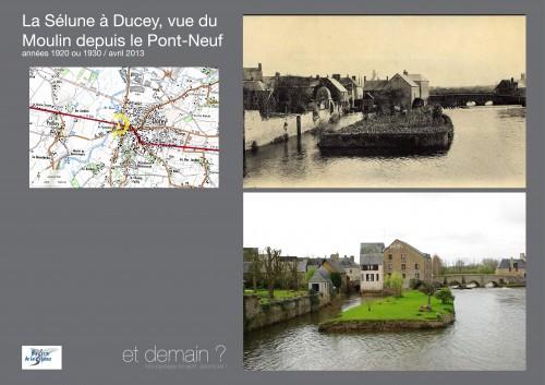 Re-photographie Ducey depuis le Pont Neuf