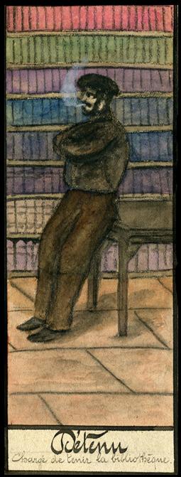 Détenu bibliothécaire à Mazas