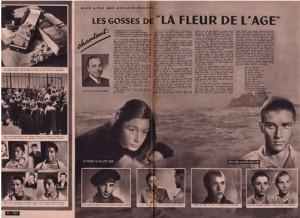 """Article sur le tournage de La Fleur de l'âge dans la revue """"Pour vous"""" (source: www.marcel-carne.com)"""