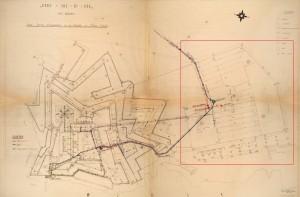 Plan de la colonie (source : bibliothèque numérique de l'enap)