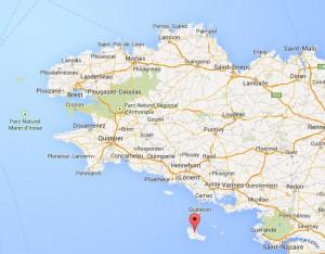 Localisation de Belle-Île-en-Mer