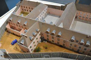 Architecture pénitentiaire. Maquette de la maison d'arrêt de Chartres ©CRHCP - ENAP