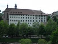 Fig. 5 Prison centrale des Augustins, 1850 – 1916, ensuite Archives cantonales jusqu'en 2003. Aujourd'hui, le bâtiment accueille le Pouvoir judiciaire du canton de Fribourg. © D. Fink