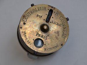 Sécurité. Contrôleur de ronde ou chronomètre de la Société Godineau. MA Grenoble, fin du XIXe siècle ©CRHCP - ENAP