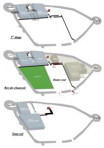 Fig. 29 Plan du musée © Musée du château de Mayenne