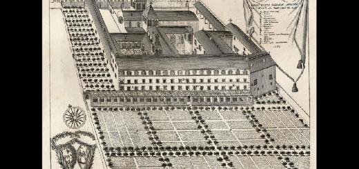 Représentation de l'abbaye d'Eysses, XVIIe siècle